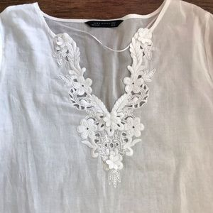ZARA woman white top size M